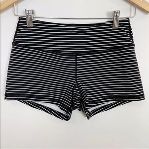 Savage Barbell Jailhouse Striped Booty Shorts